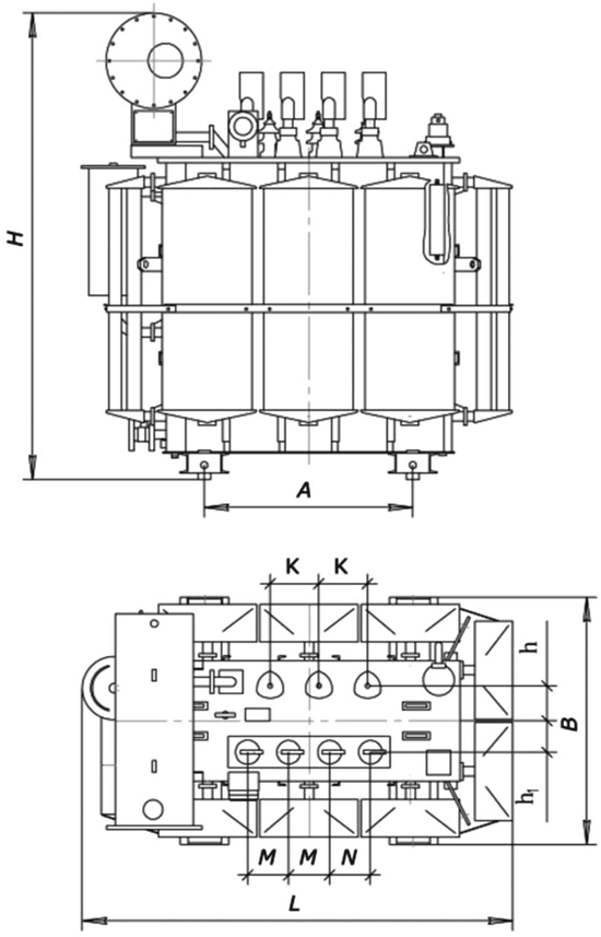 Transformers TM 25-2500 6(10) kV